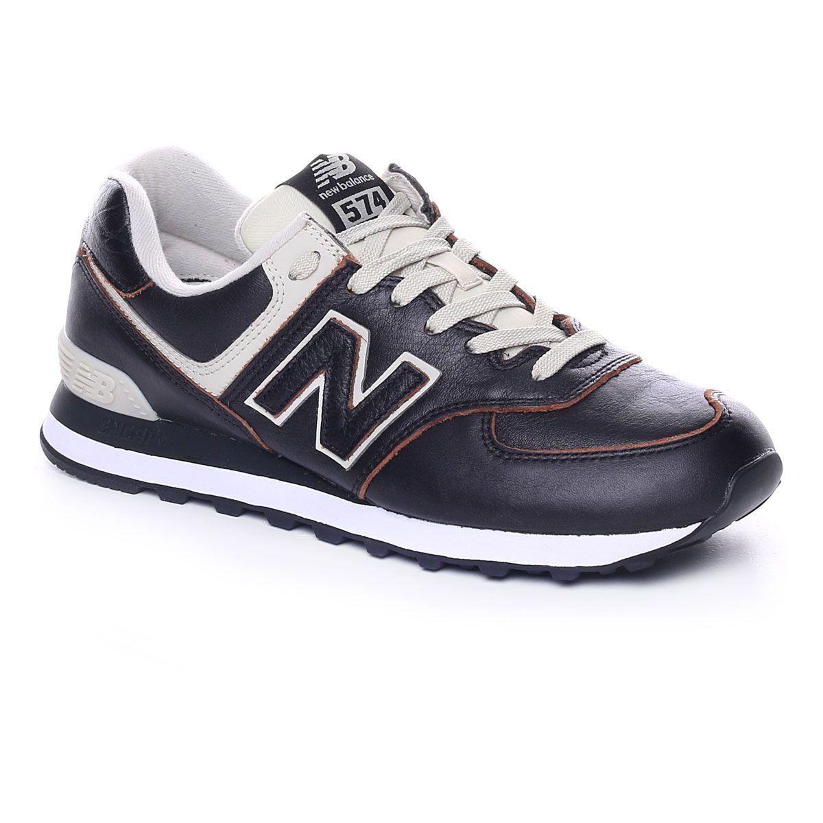 New Balance 574 Luxury Leather Uomo Nero