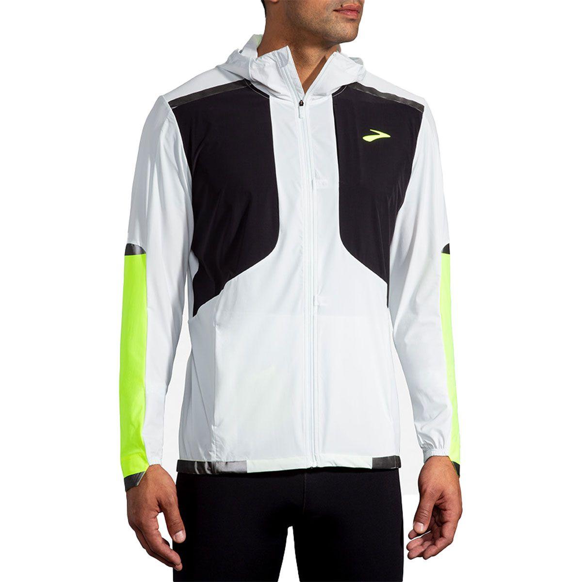 Brooks Giacca Carbonite Jacket Uomo Grigio Nero