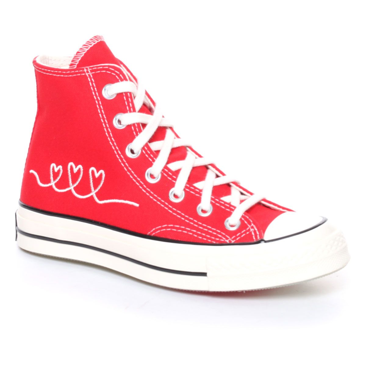 Converse Valentine's Day Chuck 70 High Top Donna Rosso Bianco