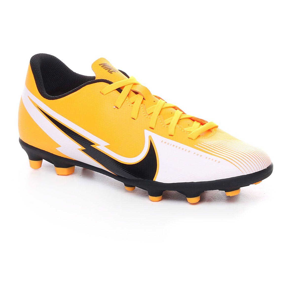 Nike Jr Vapor 13 Club Fg/Mg Bambino Arancione Bianco