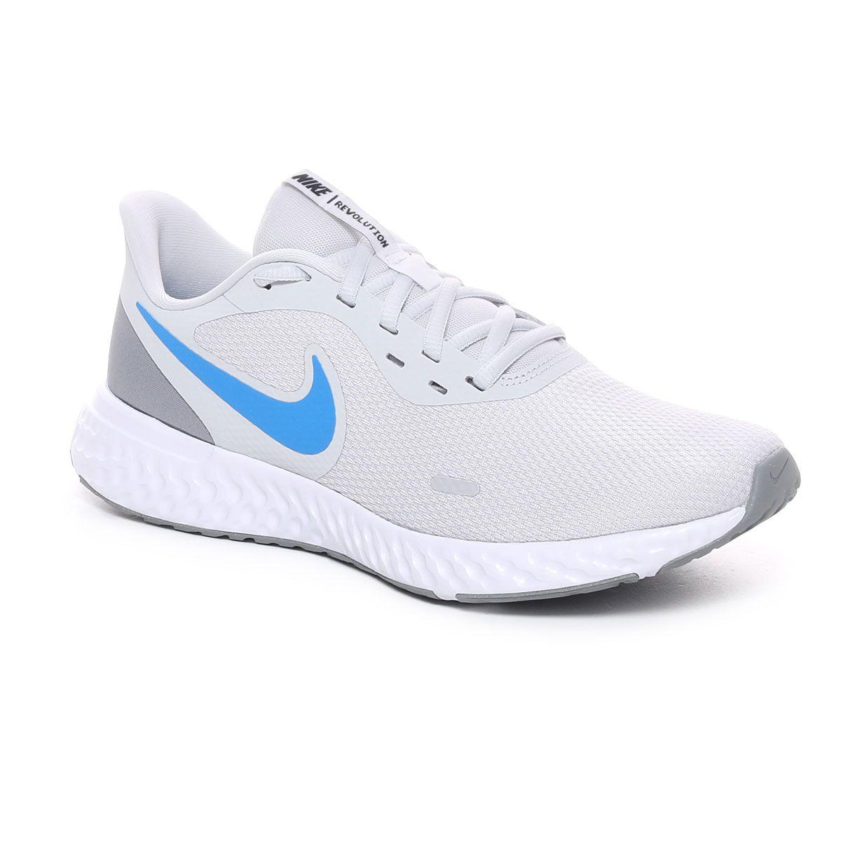 Nike Revolution 5 Uomo Grigio Celeste