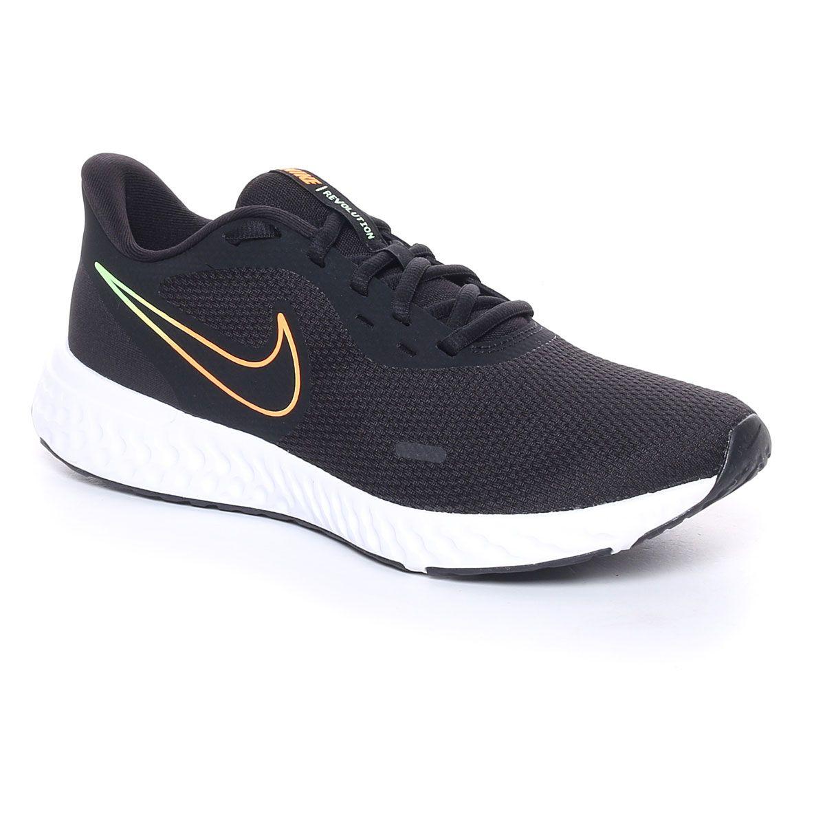 Nike Revolution 5 Uomo Nero Arancione
