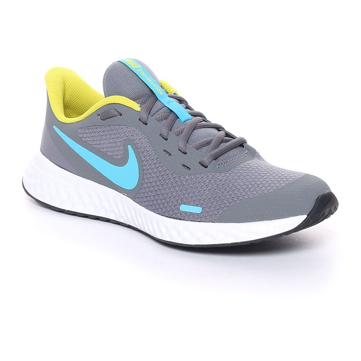 Nike Revolution 5 (Gs) Grigio Azzurro