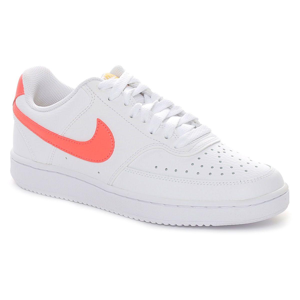Nike Court Vision Low Donna Bianco Arancione