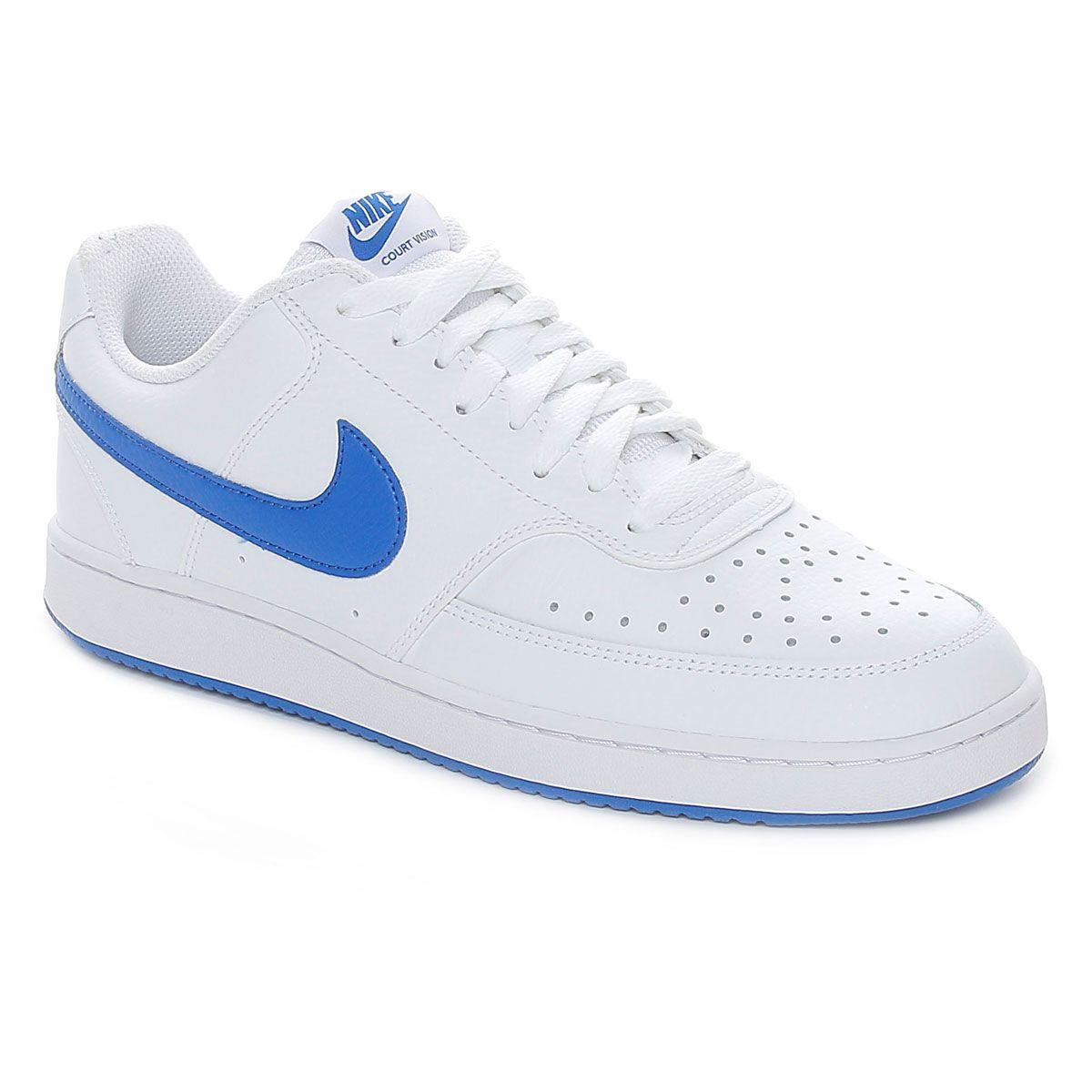 Nike Court Vision Low Uomo Bianco Azzurro
