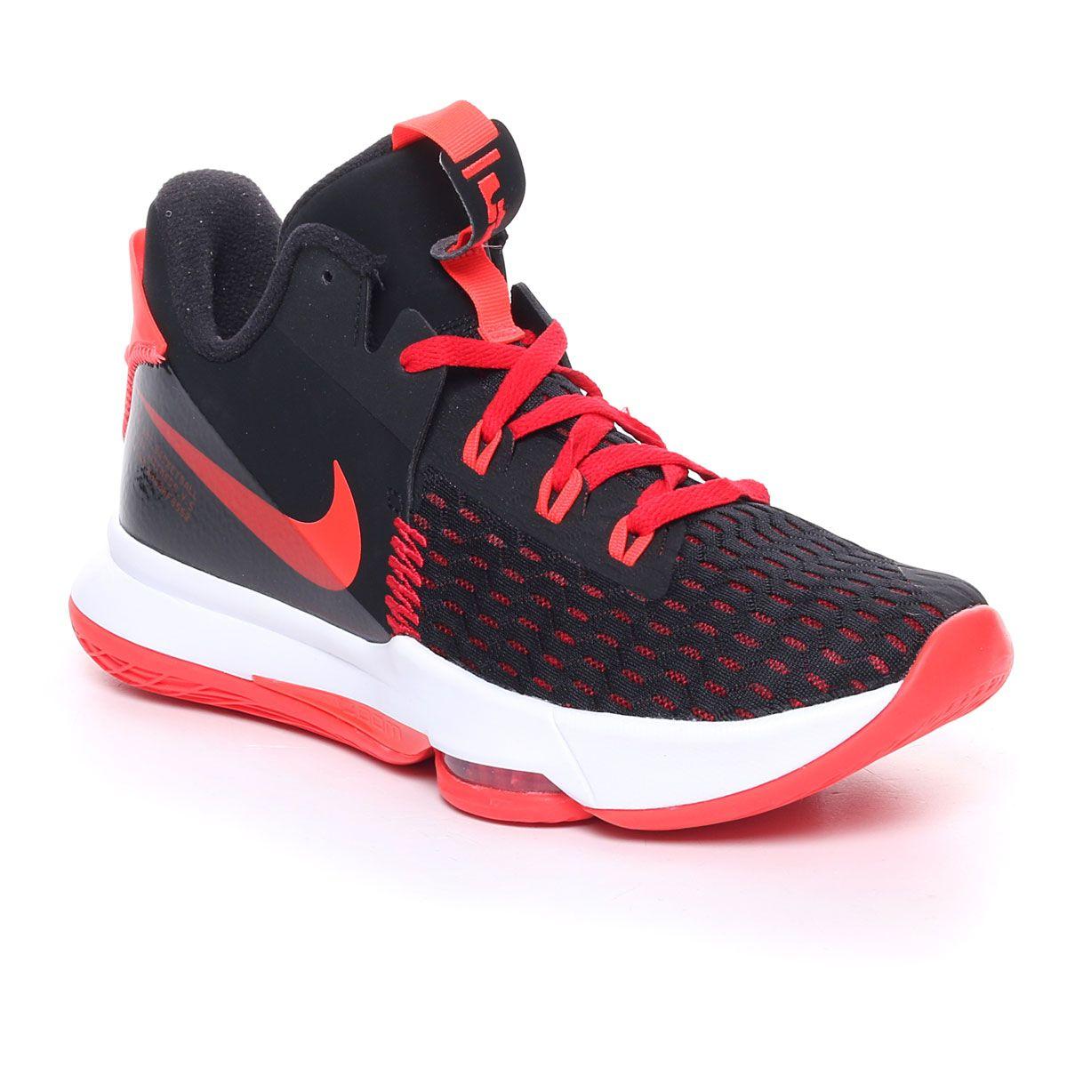 Nike Lebron Witness 5 Uomo Nero Rosso