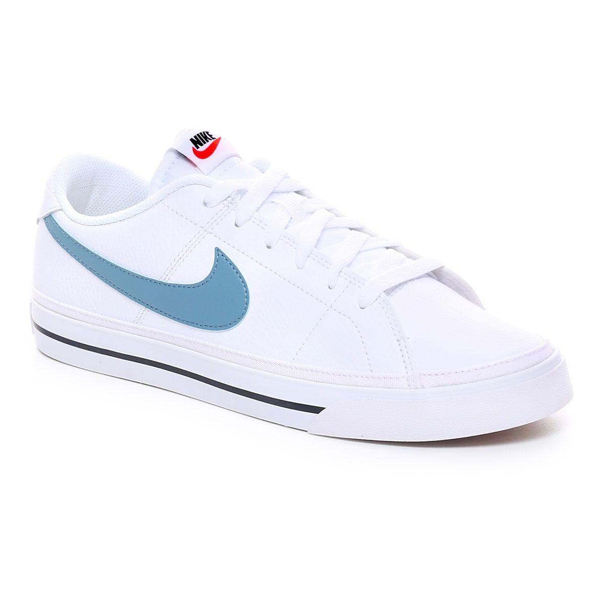 Nike Court Legacy Uomo Bianco Azzurro