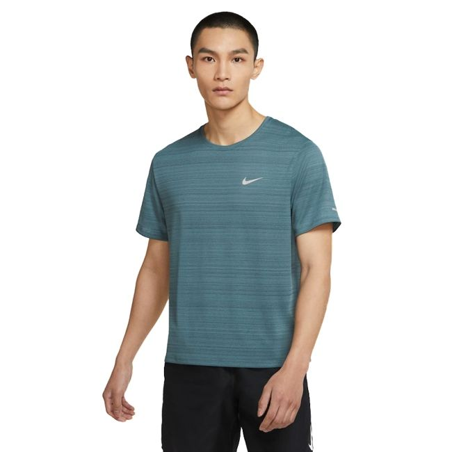 Nike T-Shirt Dri-FIT Miler Uomo Grigio Petrolio