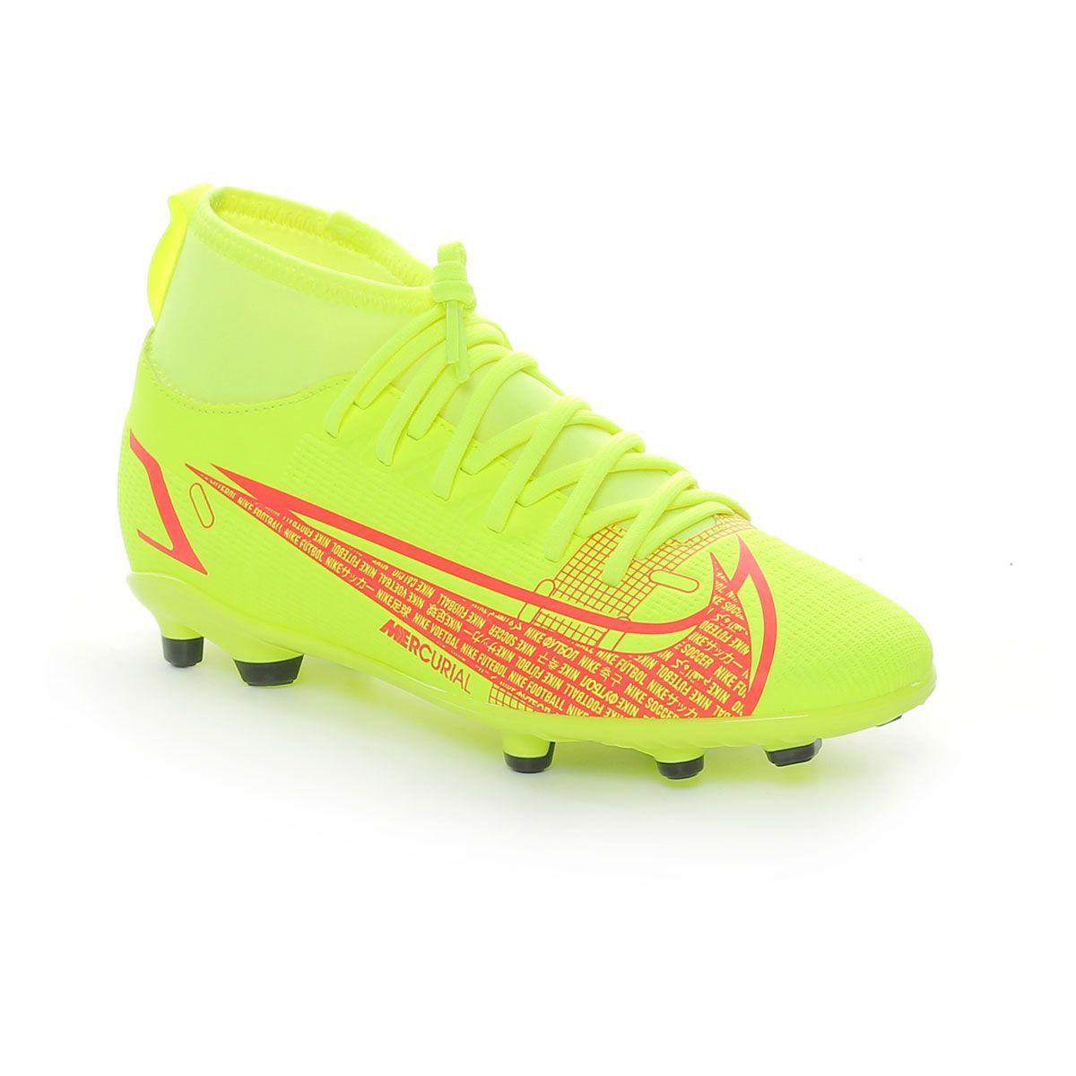 Nike Mercurial Superfly 8 Club MG Junior Lime Rosso