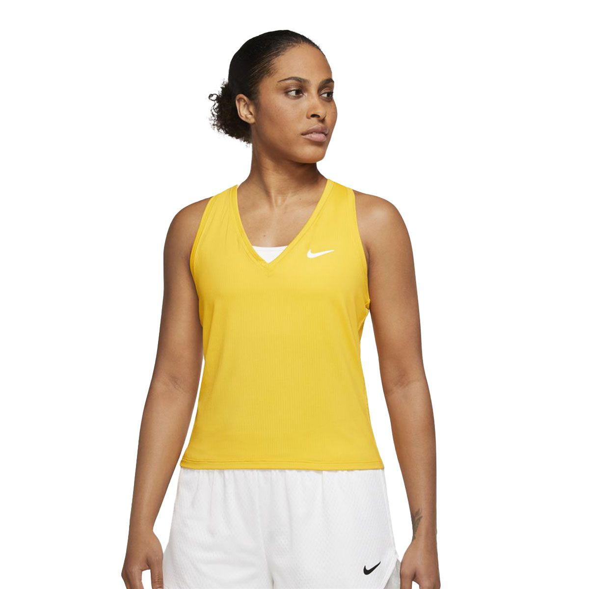 Nike Canotta NikeCourt Victory Donna Giallo