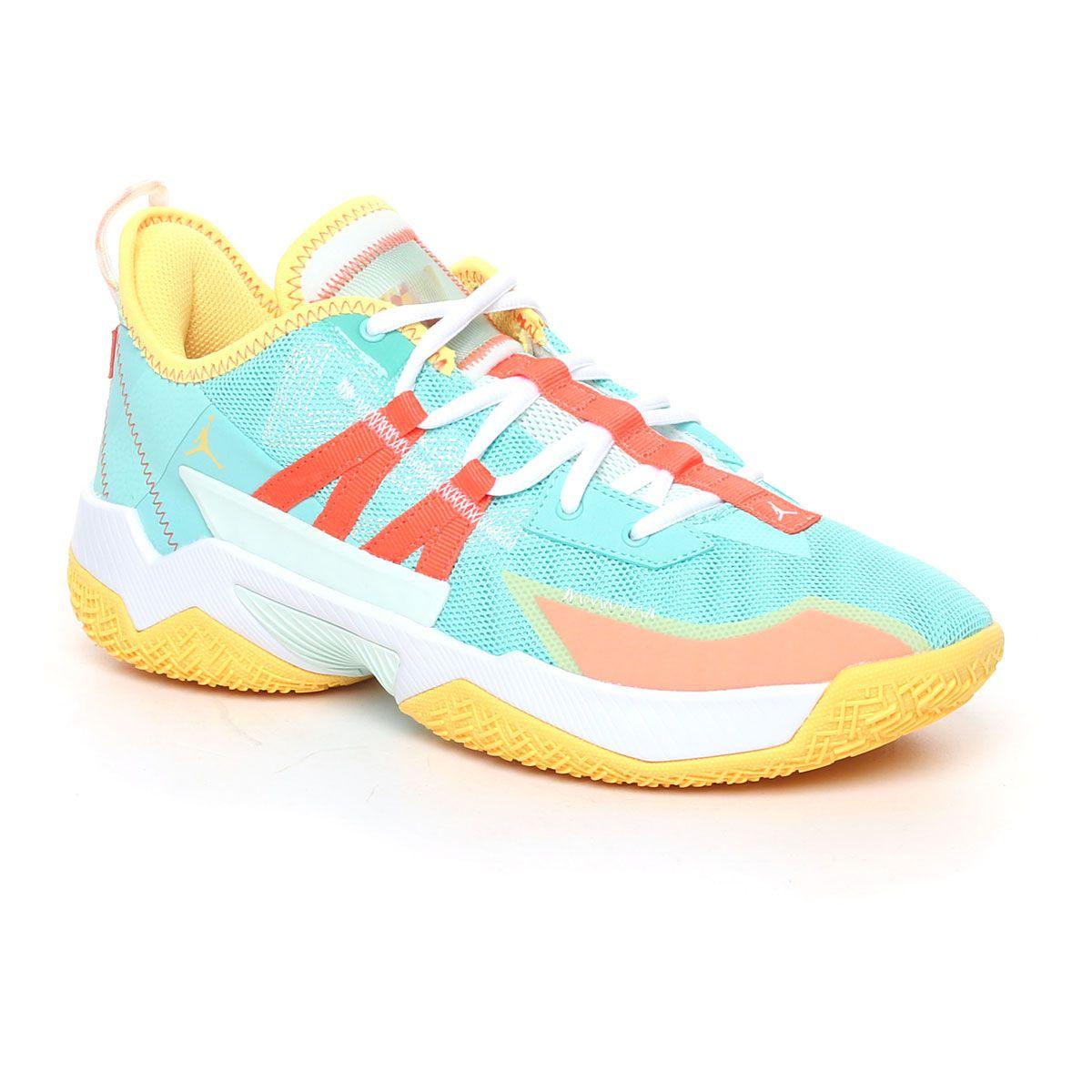 Nike Jordan One Take Uomo Azzurro Giallo Arancione