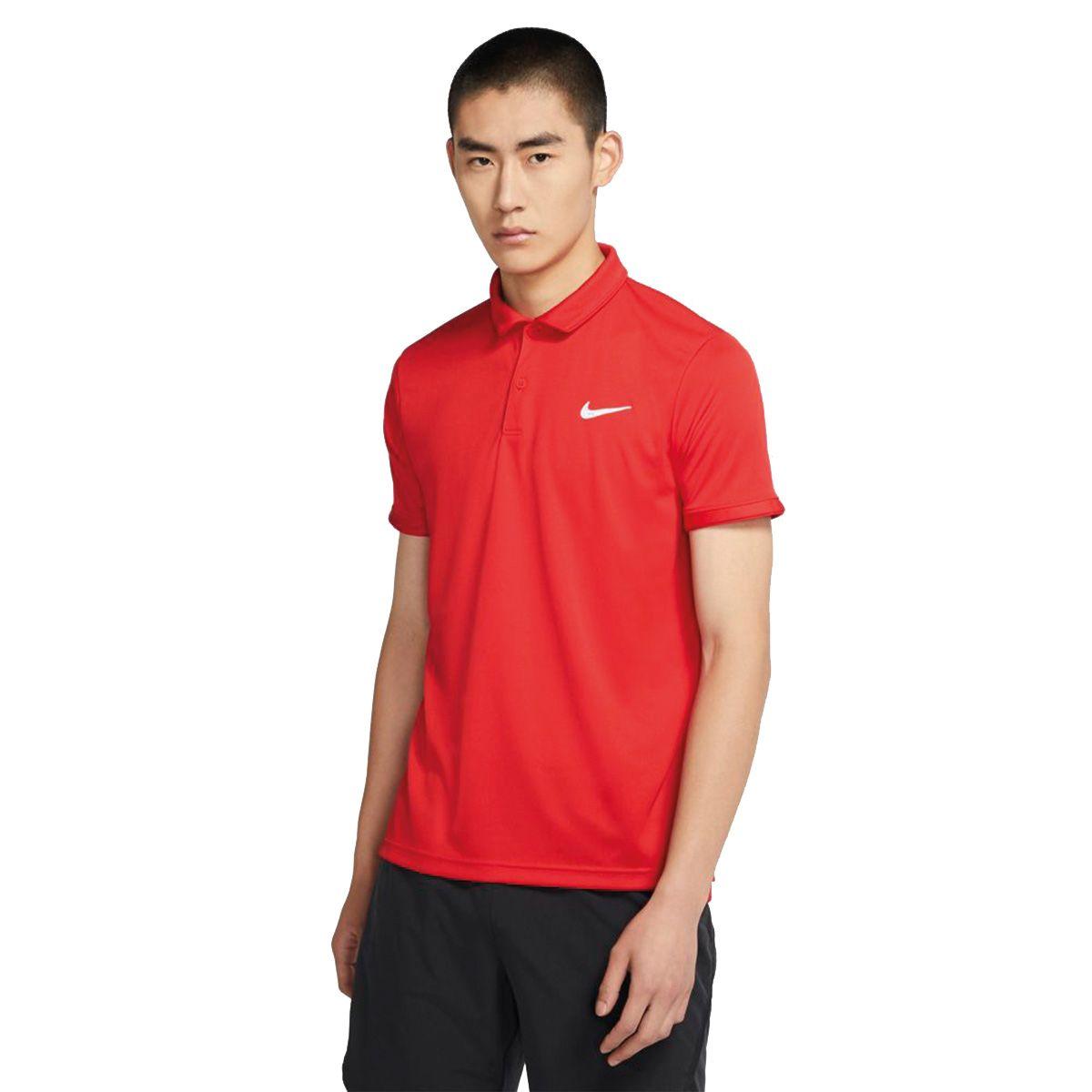 Nike Polo NikeCourt Dri-FIT Victory Uomo Rosso