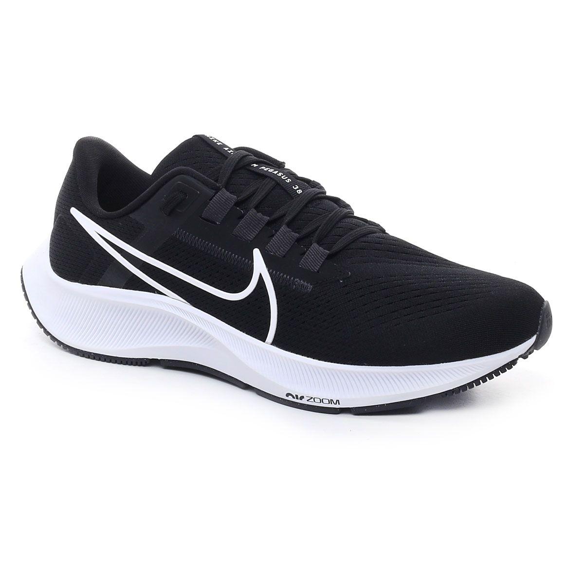 Nike Air Zoom Pegasus 38 Uomo Black White Volt
