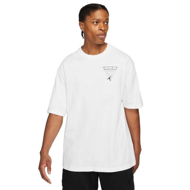 Nike Jordan T-Shirt Wash Graphic Flight Uomo Bianco