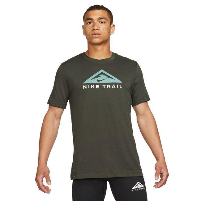 Nike T-Shirt Trail Running Dri-FIT Uomo Verde