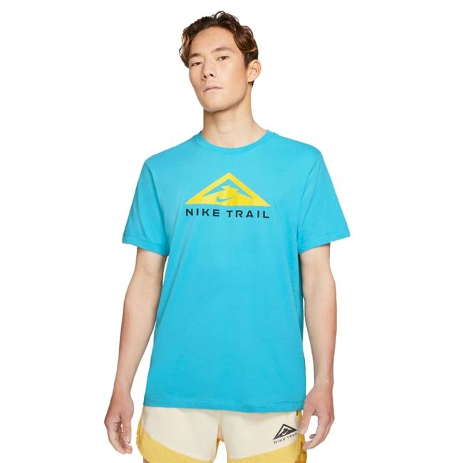 Nike T-Shirt Dri-FIT Trail Rise 365 Uomo Turchese