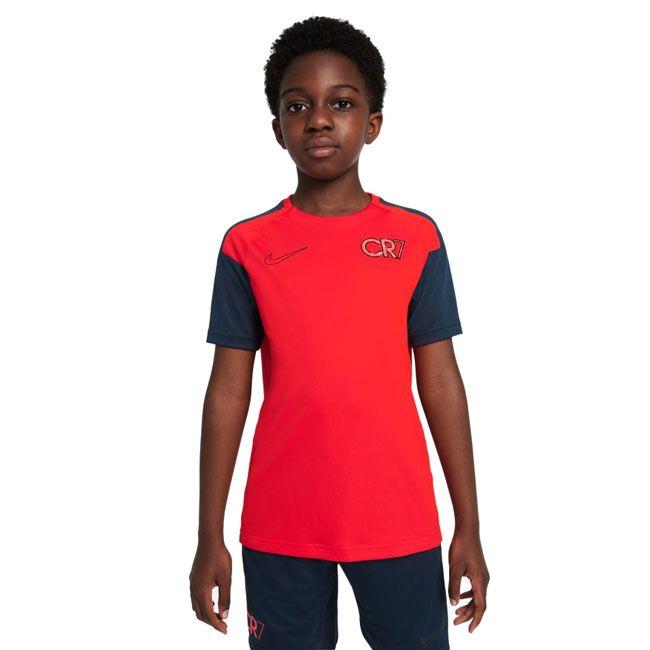 Nike Maglia Calcio Dri-FIT CR7 Ragazzo Rosso Blu