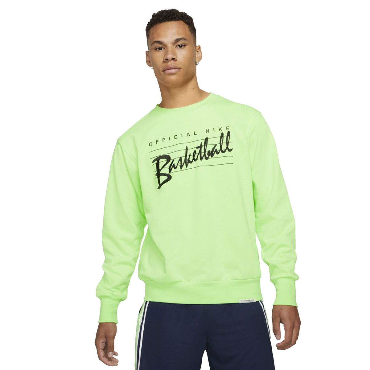 Nike Felpa Basket Dri-FIT Standard Issue Uomo Lime