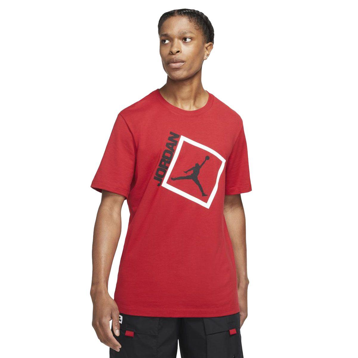 Nike T-Shirt Jordan Jumpman Box Uomo Rosso Nero