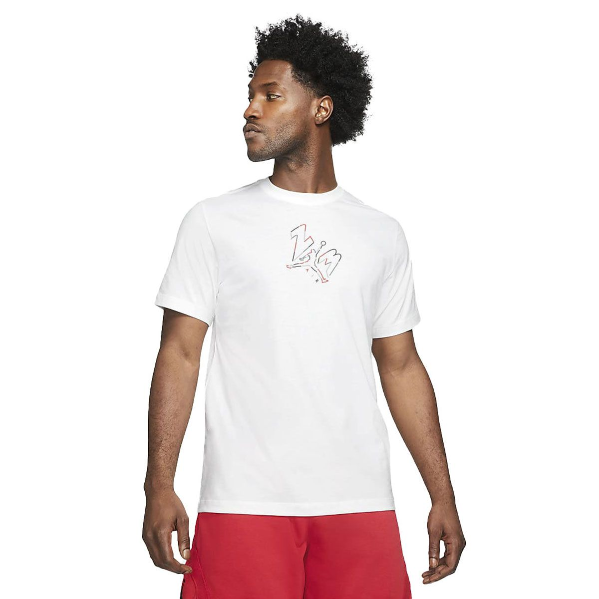 Nike T-Shirt Jordan Jumpman 23 AIR Uomo Bianco