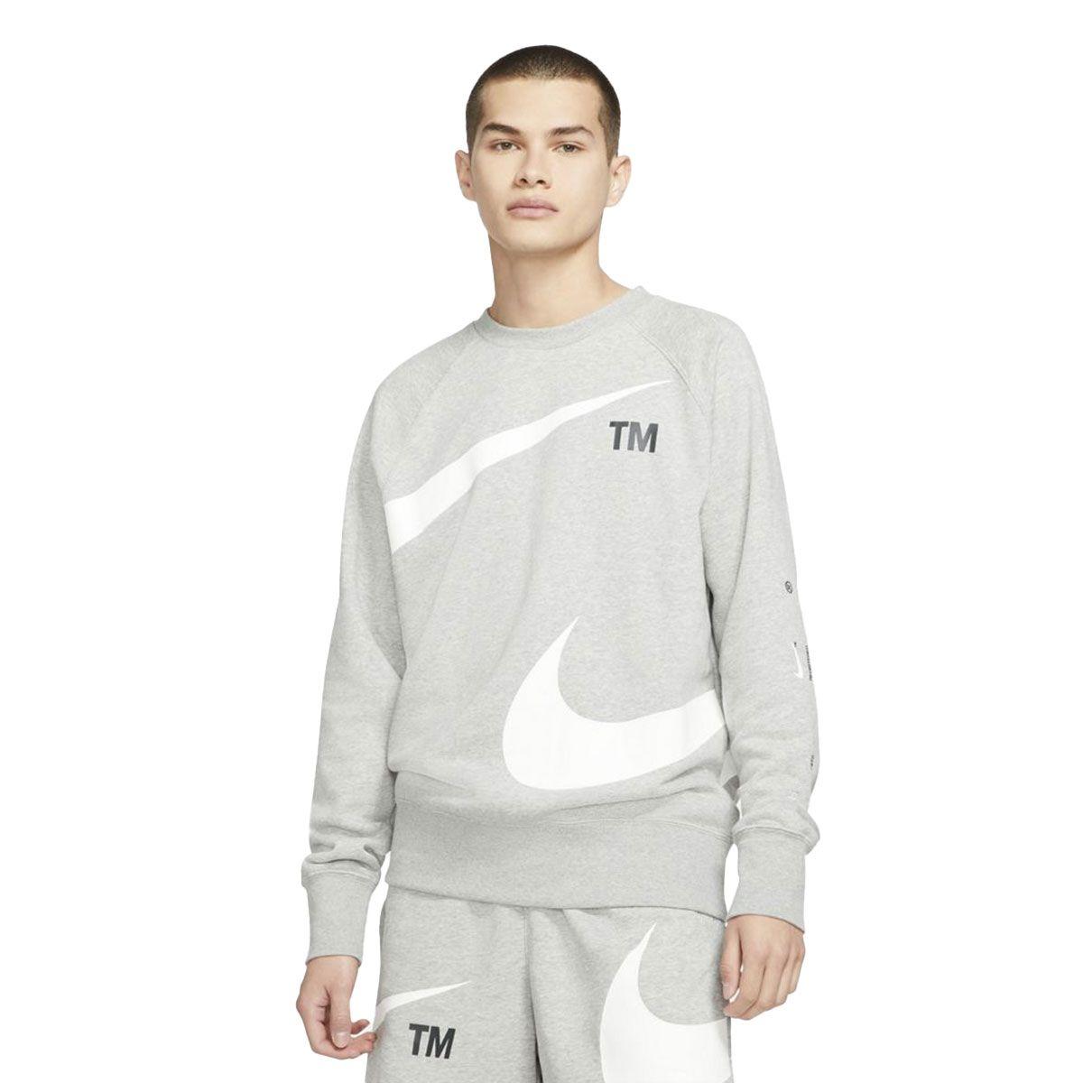 Nike Maglia Sportswear Swoosh Uomo Grigio