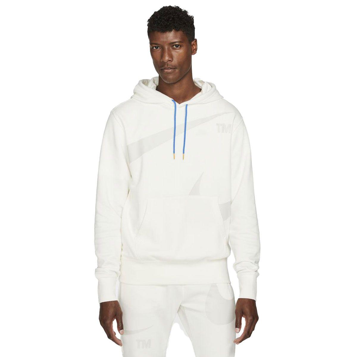 Nike Felpa Sportswear Swoosh Uomo Bianco