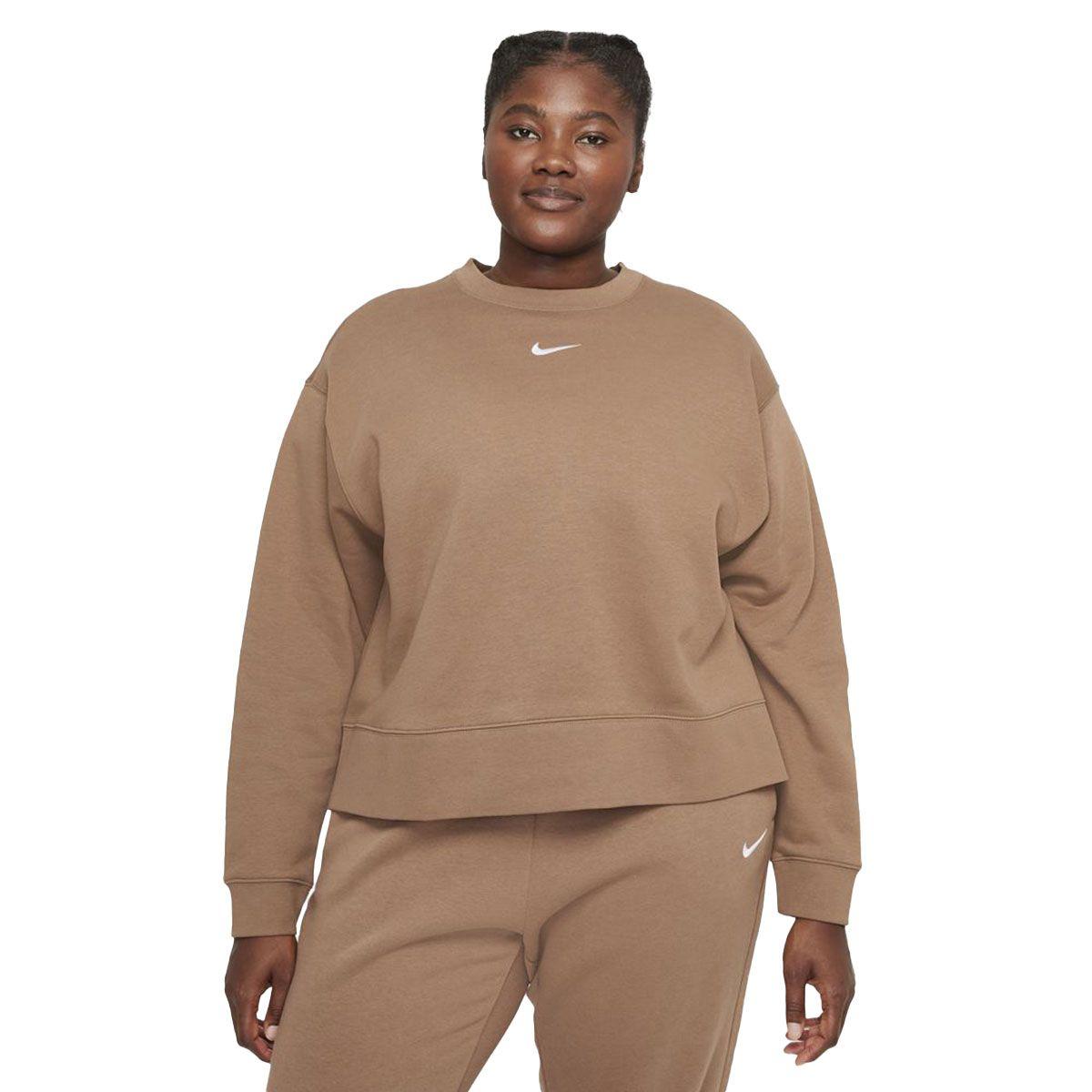 Nike Felpa Sportswear Collection Essentials Oversize Donna Marrone