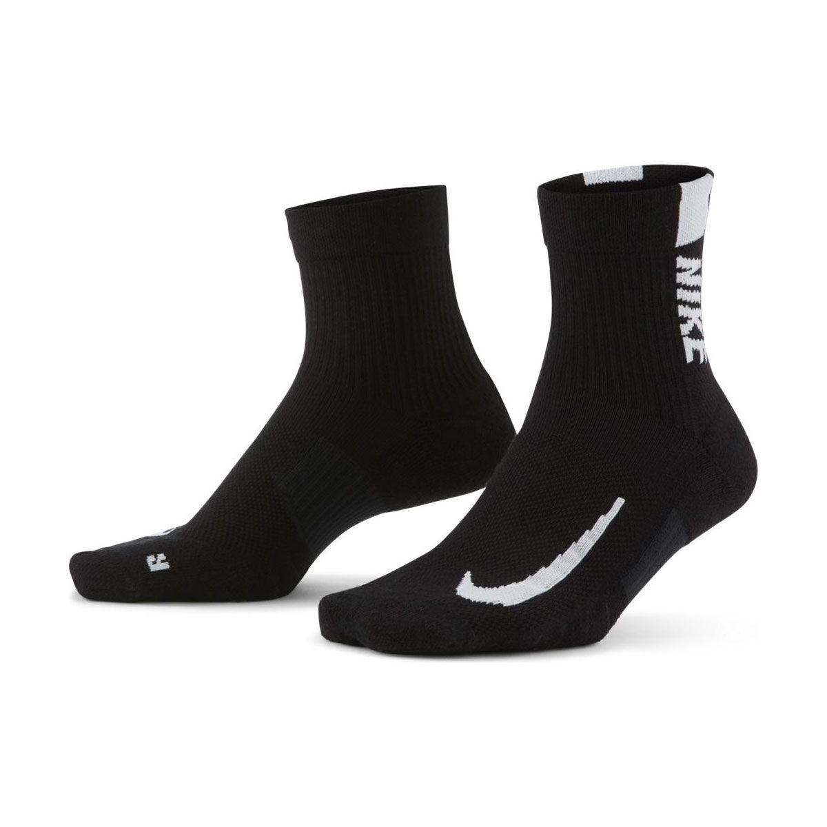 Nike Calze Multiplier 2 Paia Nero Bianco