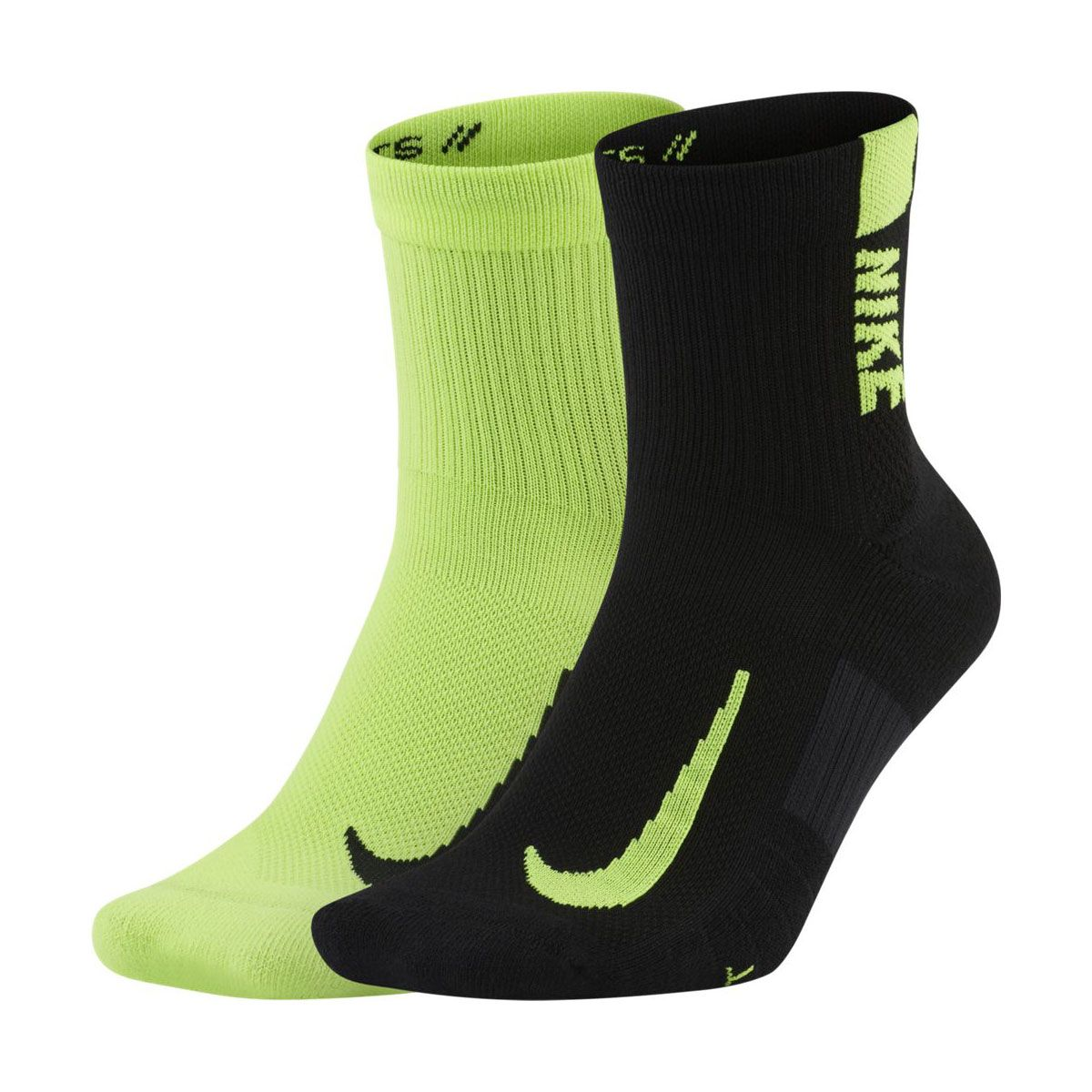Nike Calze Multiplier 2 Paia Nero Lime