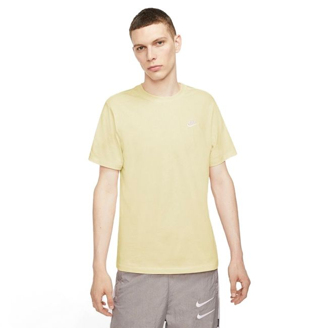 Nike T-Shirt Sportswear Club Uomo Giallo Chiaro
