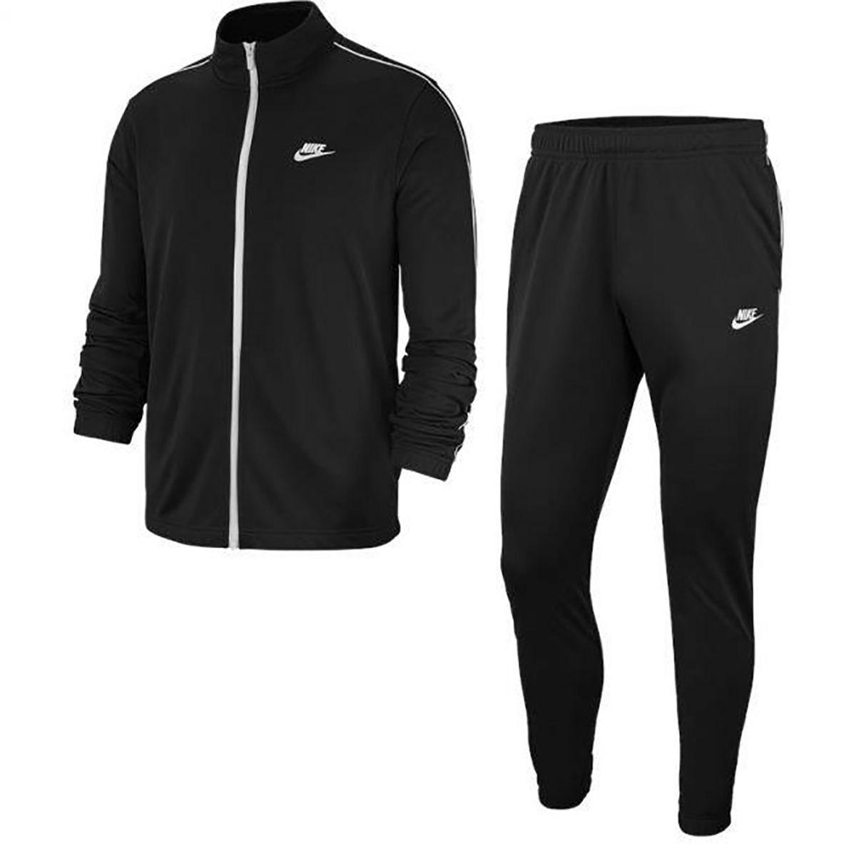 Nike Tuta Poliestere Full Zip Uomo Nero