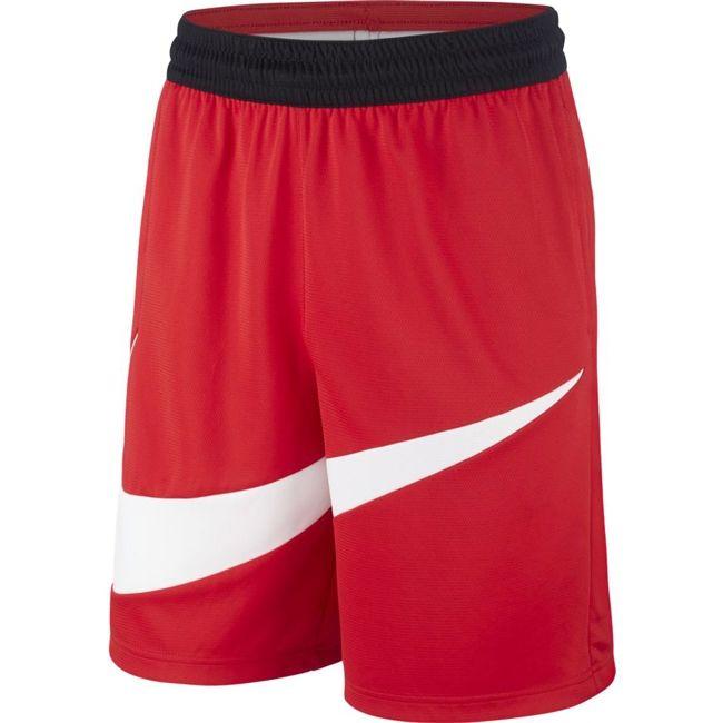 Nike Short Dri FIT Uomo Rosso Bianco