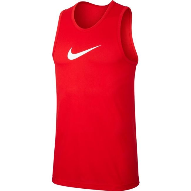 Nike T-Shirt Dri FIT Uomo Rosso Bianco