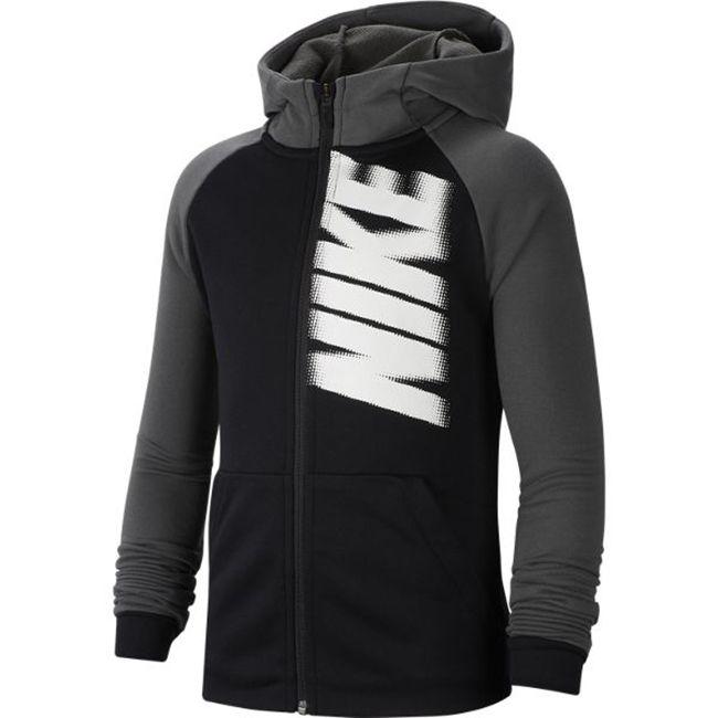 Nike Felpa Cappuccio Full Zip Poliestere Graphic Uomo Nero