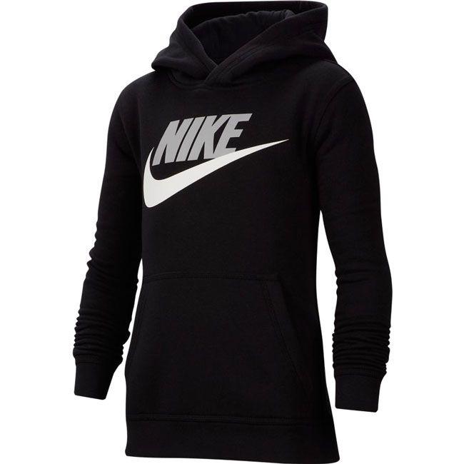 Nike Felpa Sportswear Club Fleece Hbr Bambino Nero