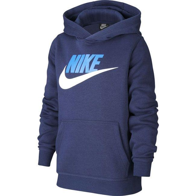 Nike Felpa Sportswear Club Fleece Hbr Bambino Blu