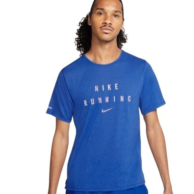 Nike T-Shirt Miler Run Division Uomo Blu
