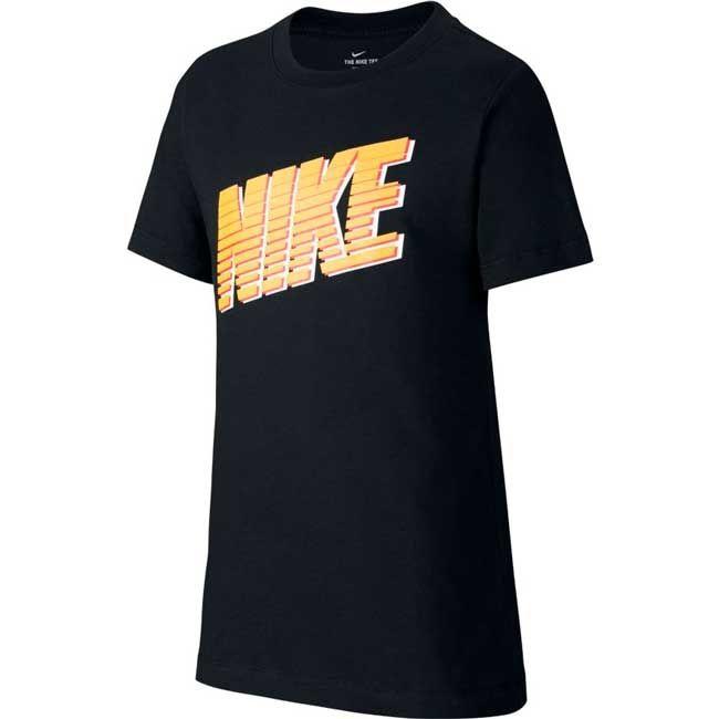 Nike T-Shirt Nsw Block Bambino Nero Giallo