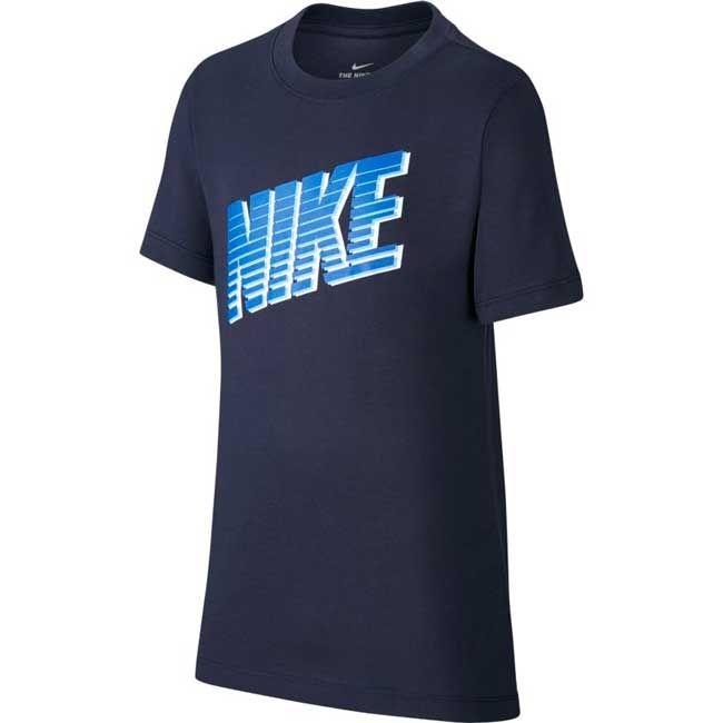 Nike T-Shirt Nsw Block Bambino Blu