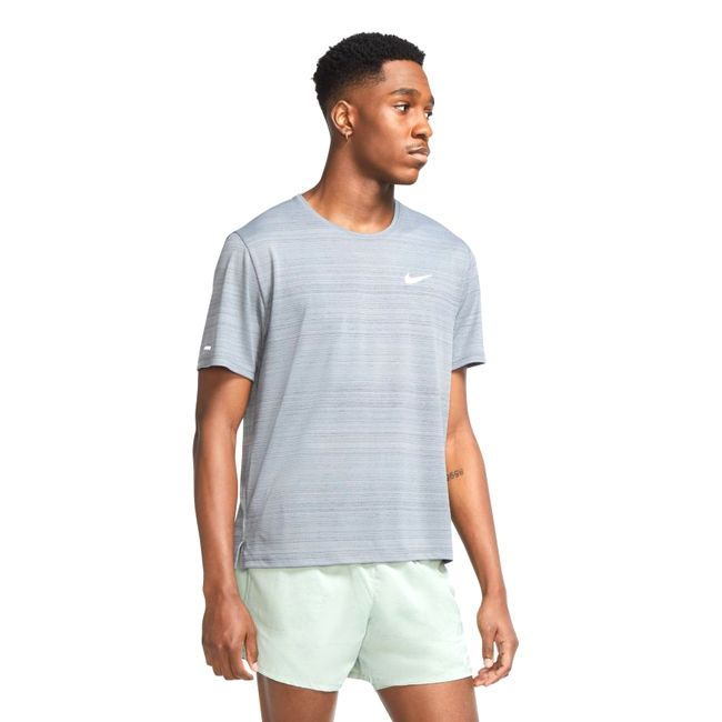 Nike T-Shirt Dri-FIT Miler Uomo Grigio