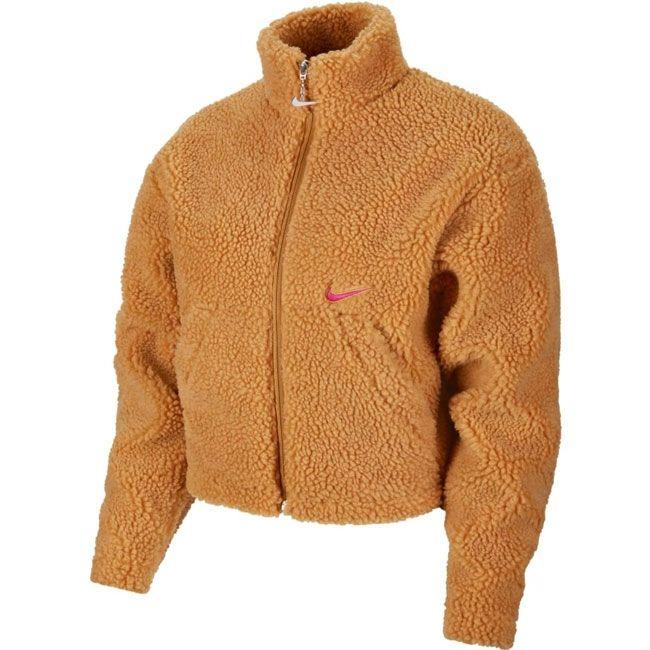 Nike Giacca Sportswear Swoosh Orsetto Donna Mostarda