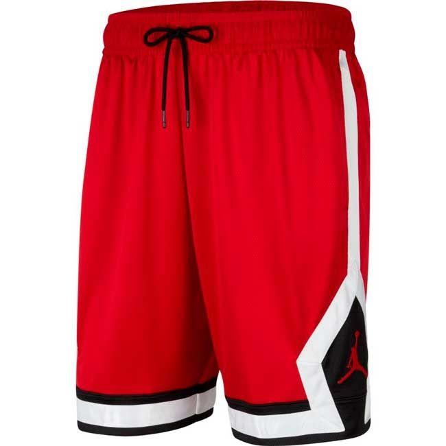 Nike Jordan Short Jumpman Diamond Uomo Rosso Bianco