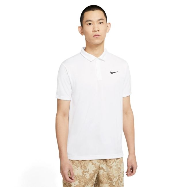 Nike Polo Nike Court Dri-FIT Victory Uomo Bianco Nero