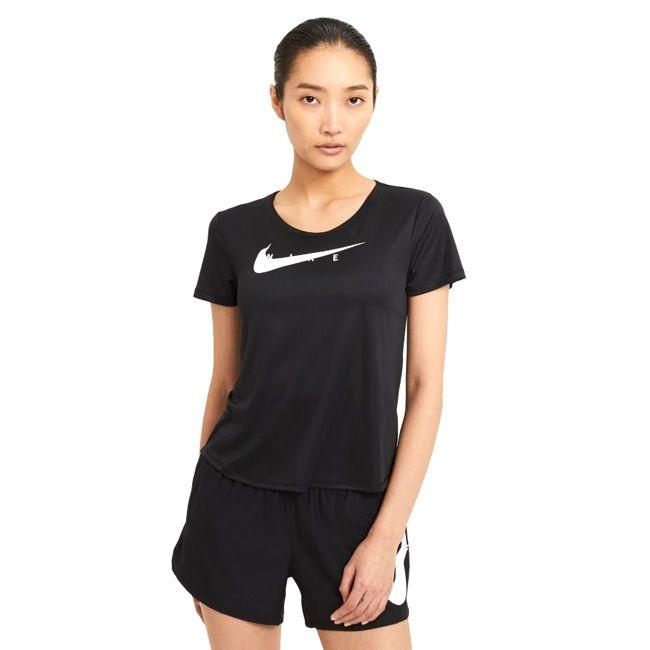 Nike Top Running Swoosh Nike Donna Nero