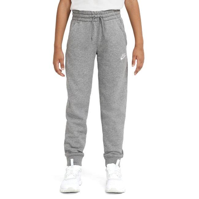 Nike Pantaloni Sportswear Club Bambino Grigio Bianco