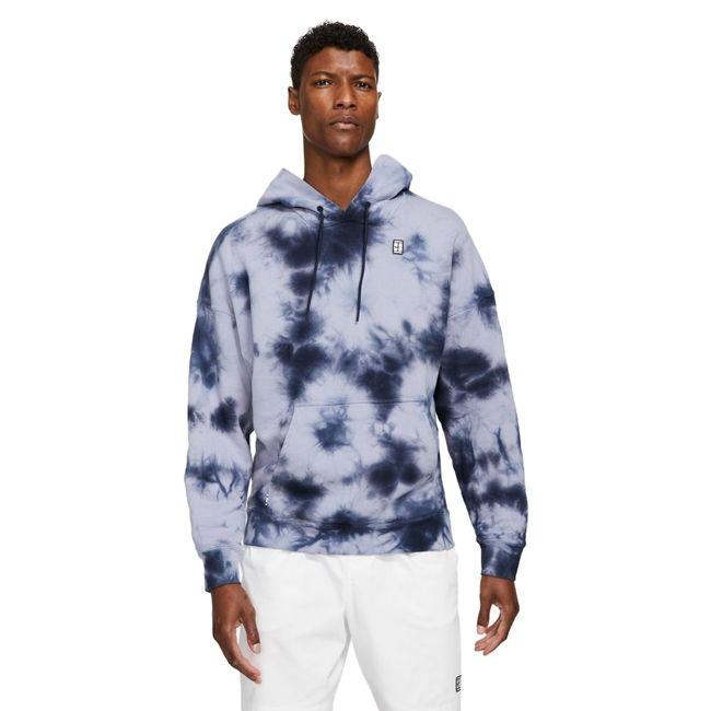 Nike Felpa Court Heritage Tie Dye Uomo Viola Nero
