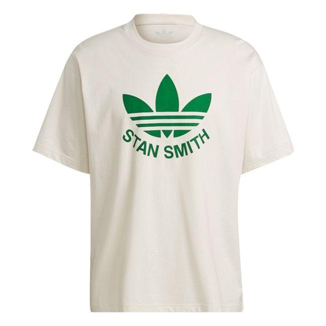 adidas T-Shirt Tongue Stan Smith PrimeGreen Uomo Panna Verde