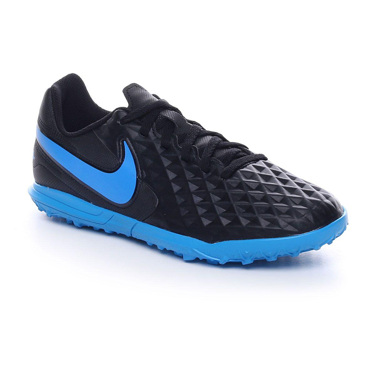Nike Jr. Tiempo Legend 8 Club TF Black Blue Hero