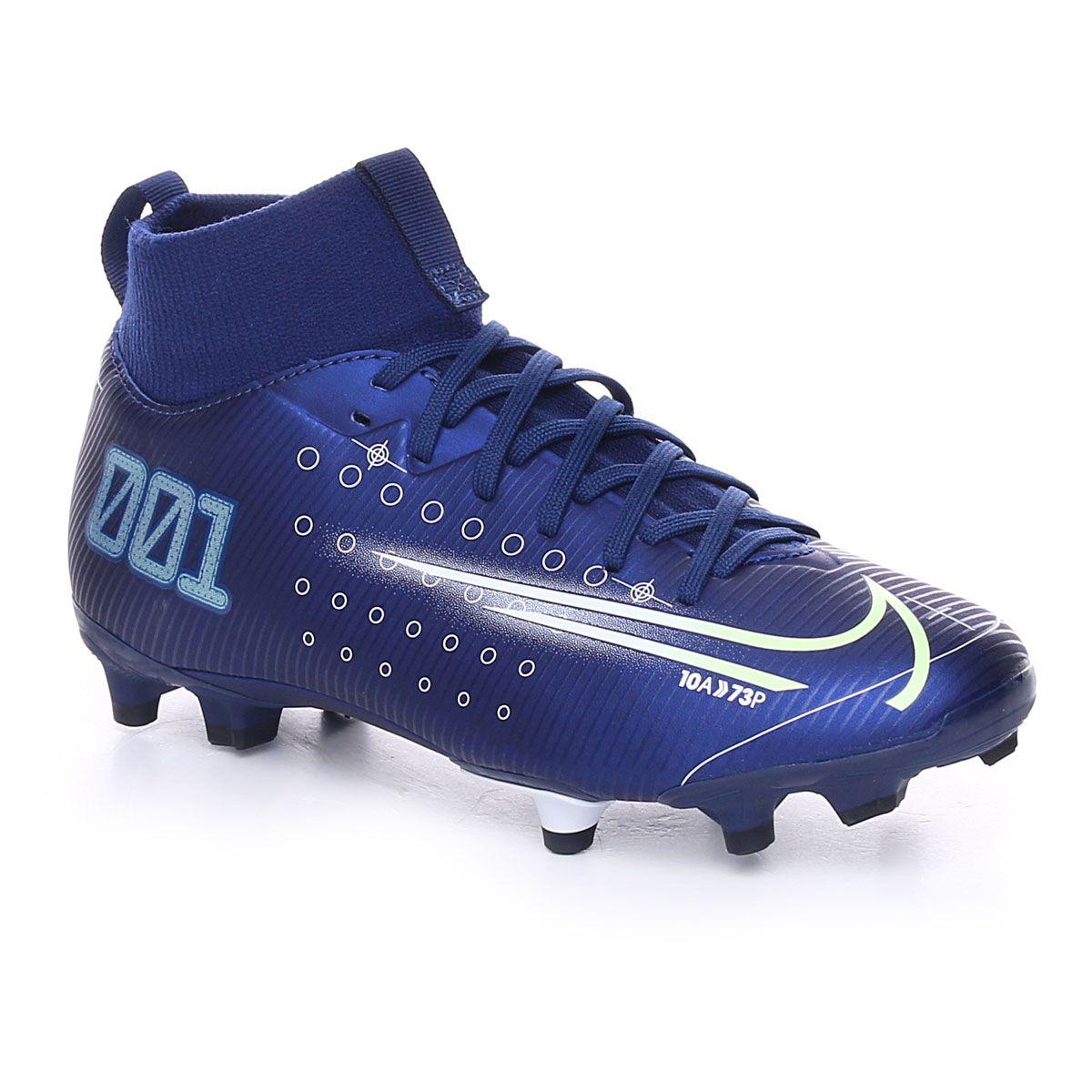 Nike Jr. Mercurial Superfly 7 Academy Mds Mg Blue Void Metallic Silver