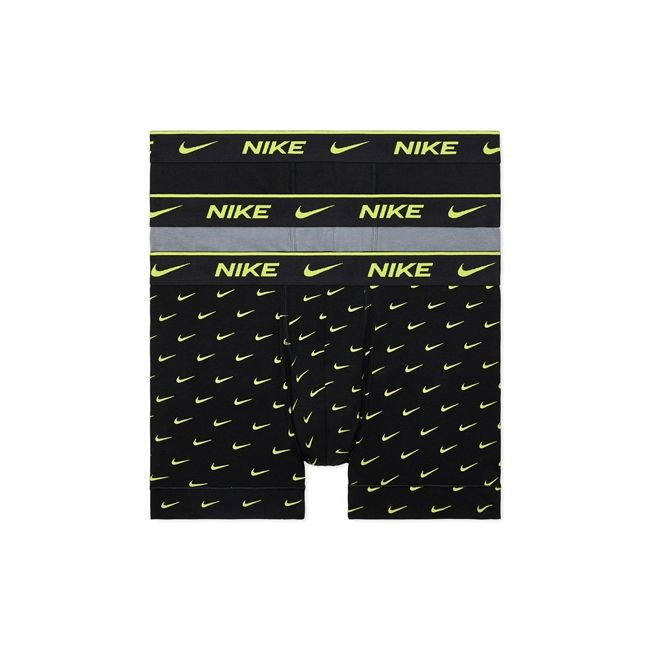 Nike Underwear Everyday Boxer Parigamba 3Pack Uomo Nero Grigio Lime